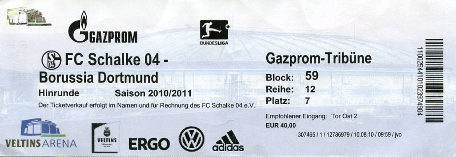 ticket schalke dortmund